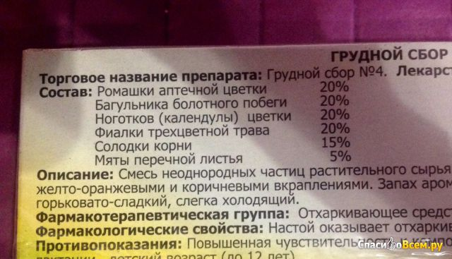 "Грудной сбор №4 ""Фитофарм"""