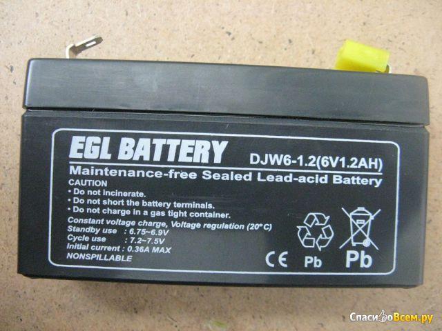 Аккумулятор EGL Battery DJW6-1.2 (6V 1,2AH) фото