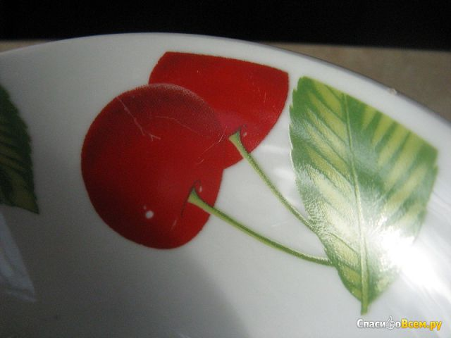 """Салатник керамический Батлер """"Черешня"""" 130мм"""