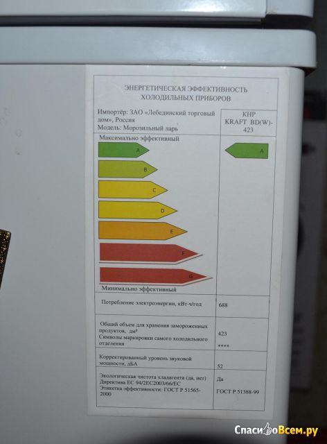 Морозильник-ларь Kraft BD(W)-423
