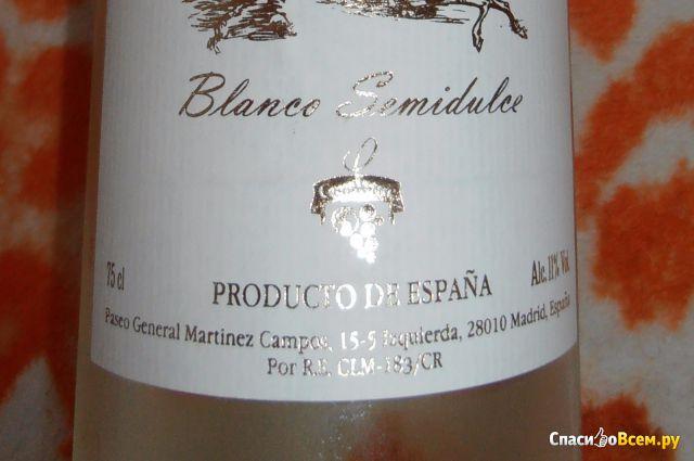 Вино столовое белое полусладкое Bodegas Parra Dorada S.L. Tierra Santa Blanco Semidulce