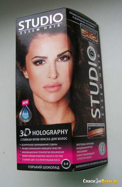 Стойкая крем-краска для волос Studio 3D Holography 3.4 Горький шоколад