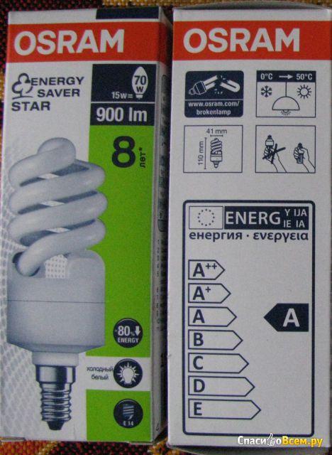 Энергосберегающая лампочка Osram Duluxstar Mini Twist 15W / 4000K Lumilux Cool White. фото