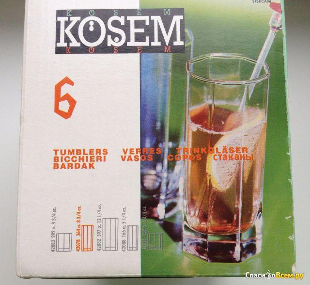 Набор стаканов Pasabahce Kosem арт. 42078 фото