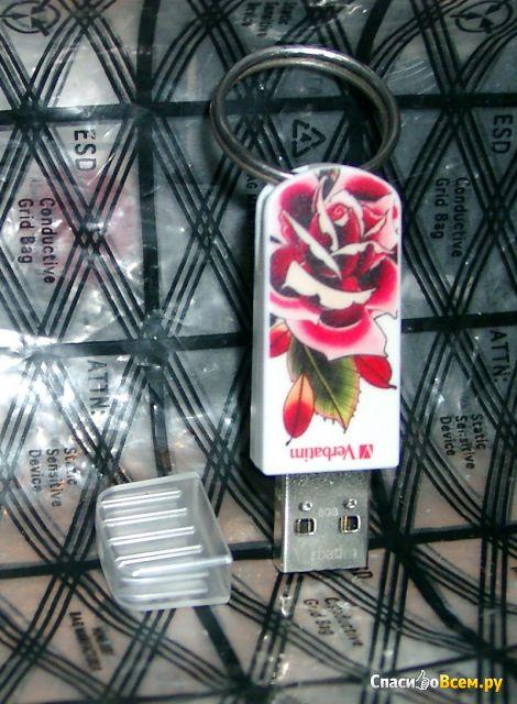"USB-флешка Verbatim Tattoo Series by Chris Nunez ""Rose"" фото"