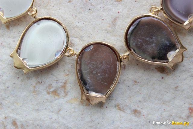 Ожерелье Ora Jewelry New Design Flower Necklaces Zinc Alloy Opal Rhinestone Rope Chain Pendant Neckl