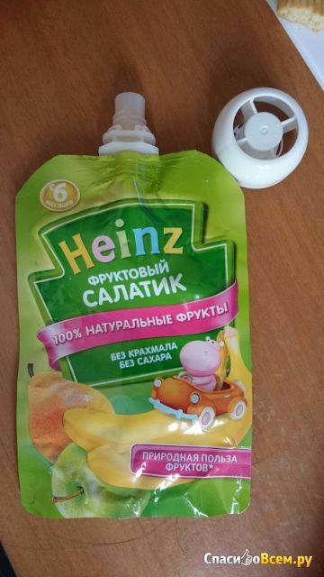 """Детское пюре Heinz """"Фруктовый салатик"""" фото"""