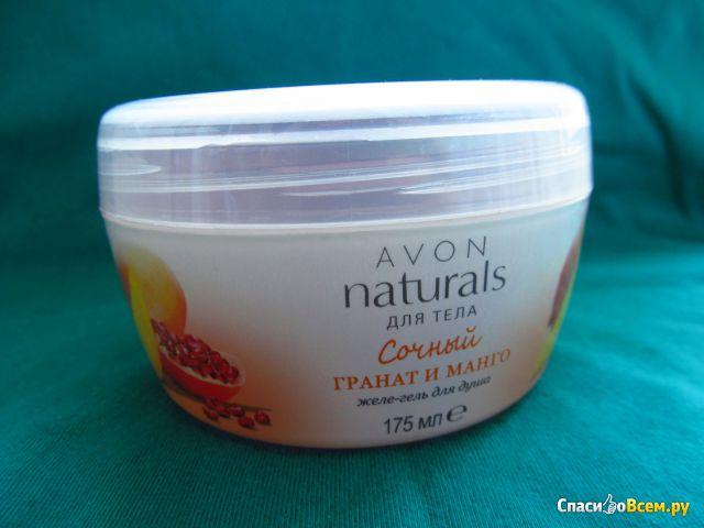"""Желе-гель для душа Avon Naturals """"Сочный гранат и манго"""""""