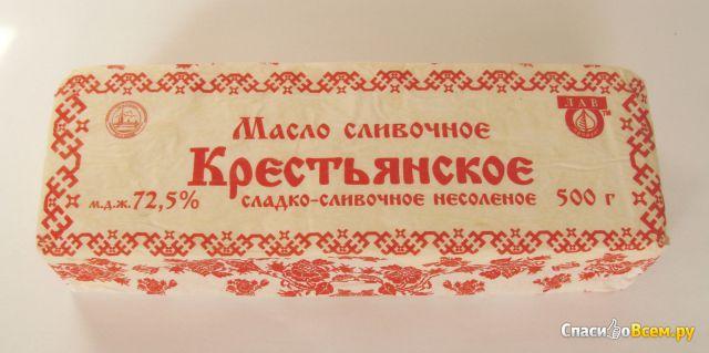 """Масло сладко-сливочное несоленое """"Крестьянское"""" 72,5% """"Лав Продукт"""" фото"""