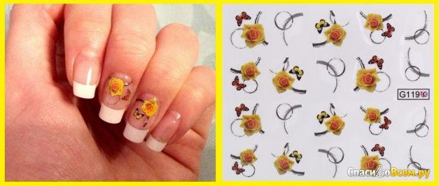 """Слайдер дизайн """"Nail sticker just for you"""" Bluesea № G119 фото"""