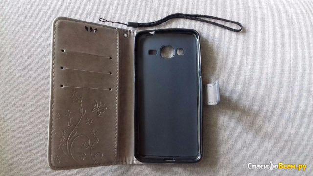 "Флип-чехол для смартфона Samsung J3 (2016) Люкс ""Ретро"" Fundas"