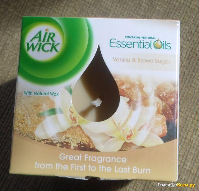 "Ароматическая свеча Air Wick ""Essential Oils Vanilla & Brown Sugar"" фото"
