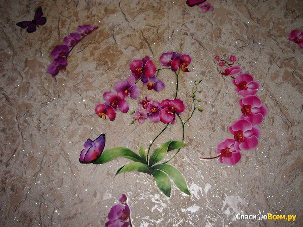 """Интерьерная наклейка """"Акварельная орхидея"""" Decoretto фото"""