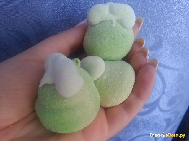 """Мармеладное суфле """"Trolli"""" яблочное с фруктовой начинкой фото"""