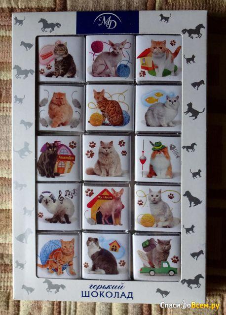 """Шоколадный набор """"Домашние животные"""" Горький шоколад 60% Монетный двор универс фото"""
