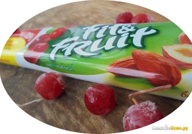 Натуральный батончик фруктово-ореховый Fit&Fruit Вишня-клюква