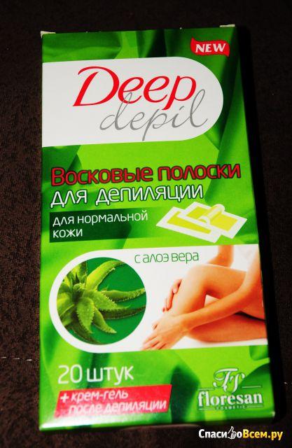 Восковые полоски Deep depil Floresan с алоэ вера, для нормальной кожи фото