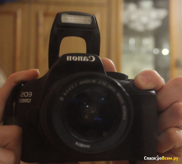 Цифровой зеркальный фотоаппарат Canon EOS 1200D фото