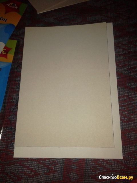 "Белый картон ""Заяц"" Апплика, 5 листов фото"