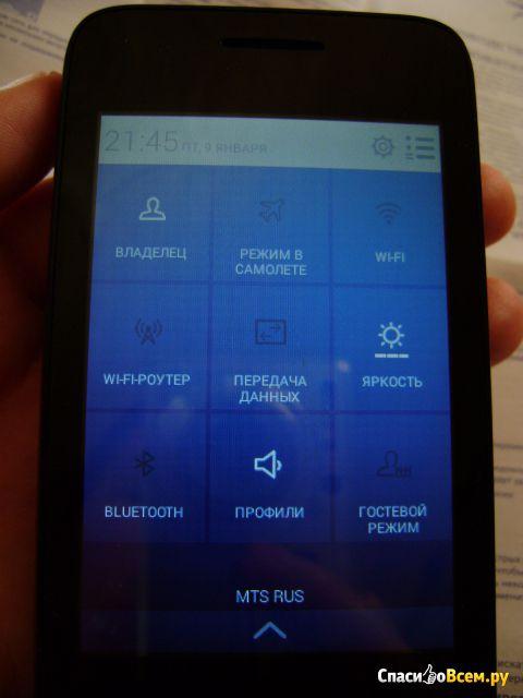 Мобильный телефон Alcatel One Touch Pixi 3 4009D фото