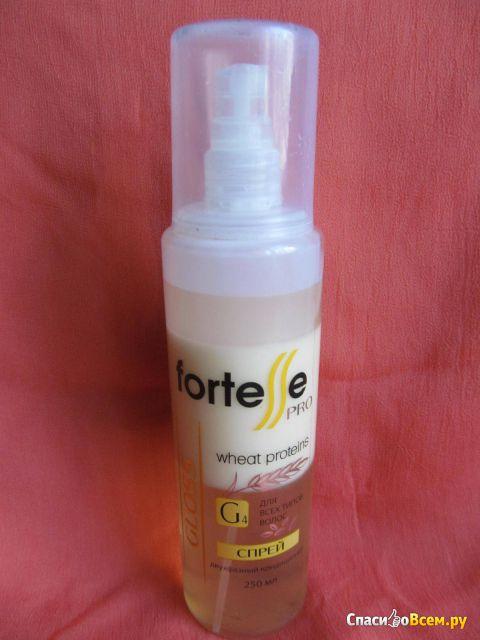 """Двухфазный кондиционер-спрей Acme-Professional Fortesse Pro """"Питание и блеск"""" с протеинами пшеницы фото"""