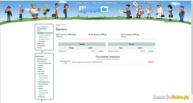 Сайт Forumok.com фото