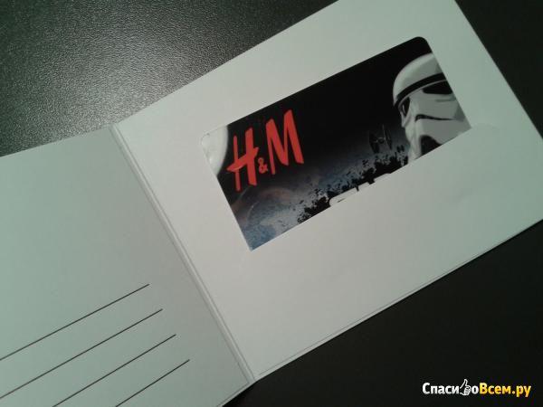 Подарочная карта H&M фото