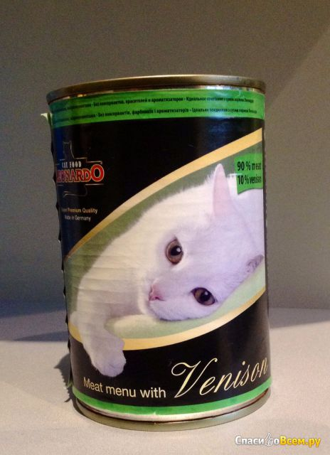 """Консервированный корм для кошек Leonardo Vension """"Мясо с дичью"""" фото"""
