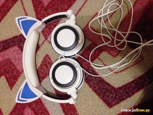 Светящиеся наушники SoundBeast Cat Ear Headphones фото