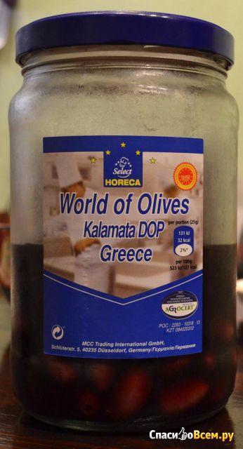 Оливки целые Kalamata DOP с косточкой в рассоле Horeca select World of olives фото