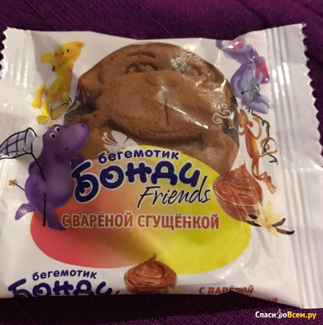 """Пирожное бисквитное """"Бегемотик Бонди"""" Friends с вареной сгущенкой фото"""