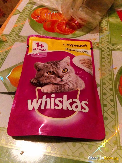 """Корм для кошек Whiskas """"Крем-суп с курицей"""" фото"""