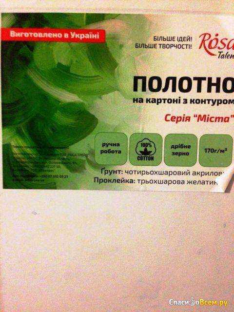 """Полотно на картоне с контуром Rosa """"Париж"""" код GPA283802 фото"""