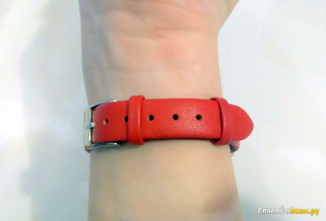 Кожаный ремешок MiJobs для фитнес-браслета Mi band 2 фото