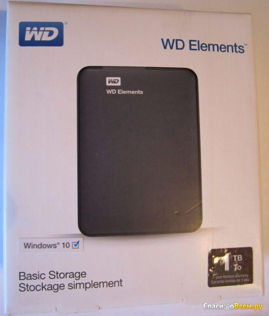Внешний жесткий диск WD Elements 1ТБ Western Digital WDBUZG0010BBK-EESN фото