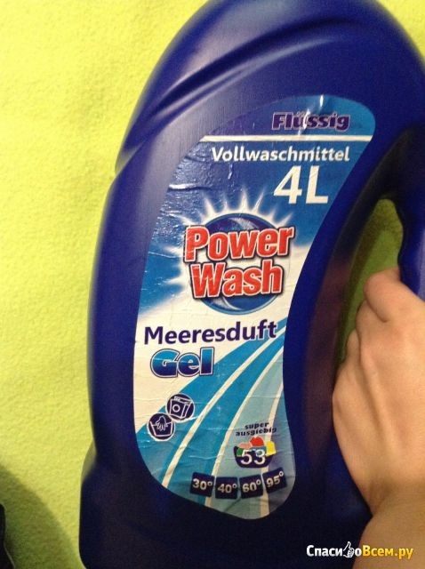 Гель для стирки Power Wash Meeresduft Gel Flussig Vollwaschmittel фото