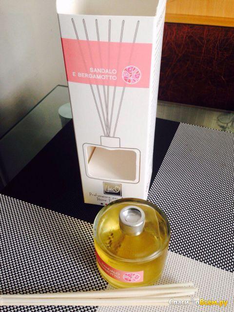 Аромадиффузор с наполнителем THD Platinum Collection Sandalo E Bergamotto фото