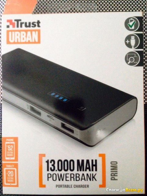 Внешний аккумулятор Trust Primo Power Bank 13000 фото