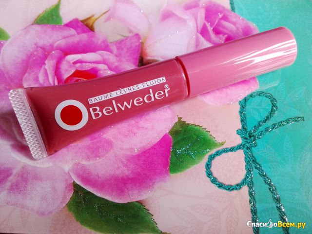 """Жидкий бальзам для губ Belweder """"Восстанавливающий"""" с розовым маслом фото"""