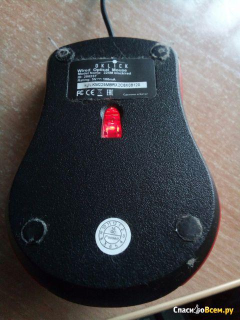 Мышь проводная Oklick 225M фото