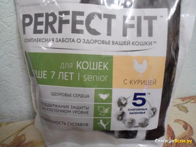 Сухой корм для кошек Perfect Fit Senior для кошек старше 7 лет с курицей фото