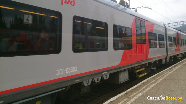 "Поезд №802С ""Ласточка"" (Адлер - Краснодар) фото"