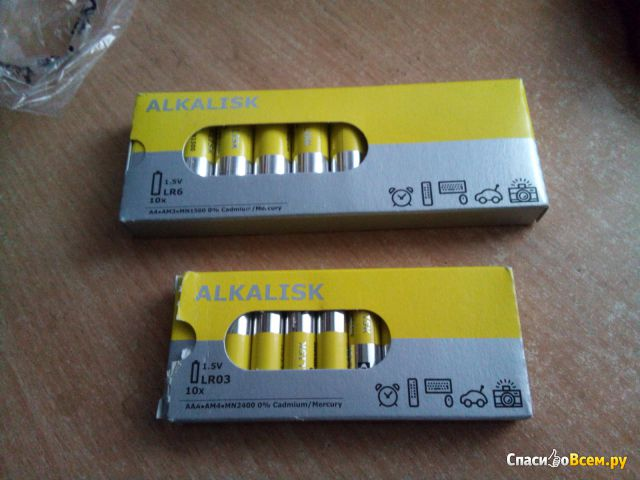 "Щелочные батарейки IKEA ""Алкалиск"""