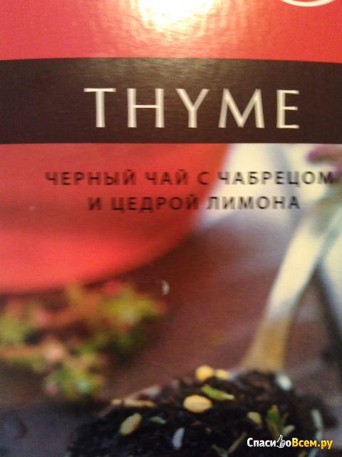 Черный чай Tess Thyme с чабрецом и цедрой лимона фото