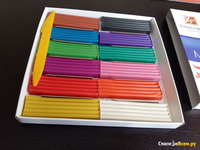 """Пластилин Луч """"Modelling Clay"""" Классика, 12 цветов фото"""