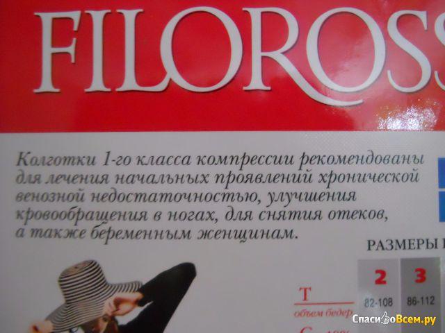 Колготки компрессионные Filorosso Profilactica, компрессия 1 класс фото
