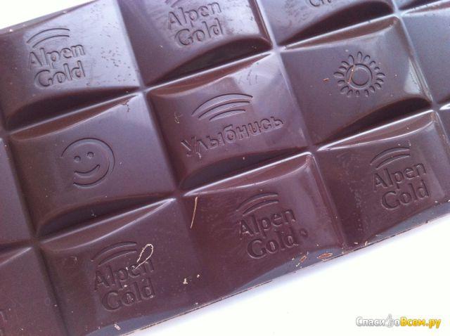 Темный шоколад Alpen Gold Dark фото