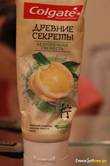 """Зубная паста Colgate Древние Секреты """"Безупречная Свежесть"""" с маслом лимона и алоэ фото"""