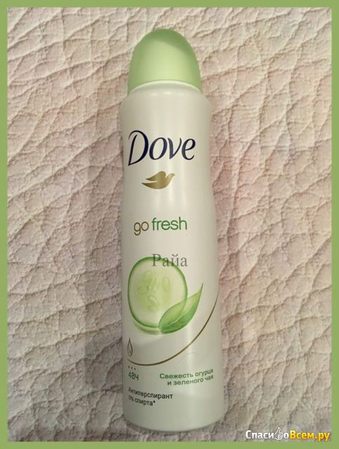 Антиперспирант Dove Go Fresh свежесть огурца и зеленого чая фото