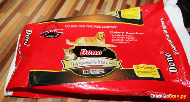 Подгузники для собак Dono фото